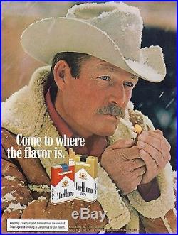 Vintage Shearling Sheepskin Marlboro Man Western Style Coat Jacket