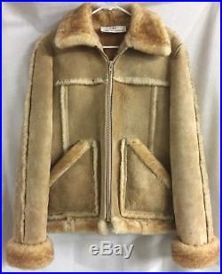 586ad2fee0c5cb Vintage Sheplers Western Wear SHEEPSKIN Shearling COAT Jacket SUEDE 100%  Pure