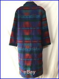 Vintage Woolrich Long Navajo Wool Aztec Blanket Coat Jacket Southwest Western M