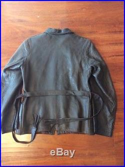 Vtg 1940s 1950s Womans Genuine Deerskin Leather Western Coat Jacket
