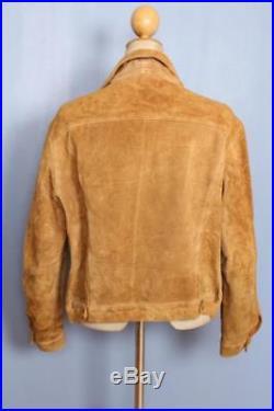 Vtg 50s LEVIS BIG E Suede Leather Western Motorcycle Jacket Size Medium