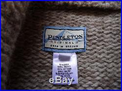 Vtg. 80's Pendleton SML Wool Western Aztec Navajo Denim Jean Jacket Sweater Coat