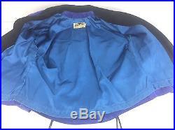 Vtg 80s Purple Black Suede Fringe Jacket Womens S Small Western Leather Coat USA