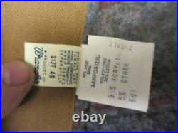 Vtg Dead stock Wrangler Big Ben Blanket Jacket Chore Barn Coat Canvas Mens 40USA