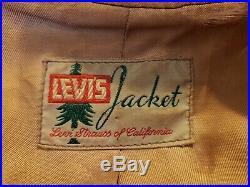 Vtg Levi Suede Leather Zipper Jacket Coat Deadstock Western Wear 40's 50's Rare