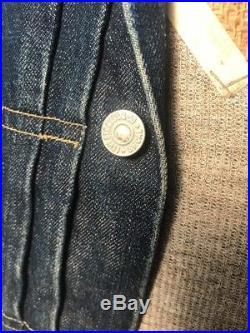920f43933c Vtg Levis 506xx Jacket S Men Western Denim 40s Big E Rivets Red Back ...