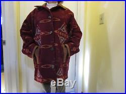 Vtg Men's XL PENDLETON Western Wool Classic Coat Jacket High Grade suede collar