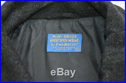 Vtg PENDLETON High Grade Western Native Navajo Aztec Blanket Bomber Jacket M-L