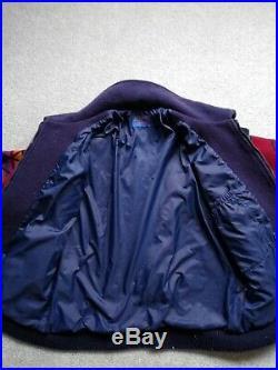 Vtg PENDLETON High Grade Western Native Navajo Aztec Blanket Bomber Jacket S-M
