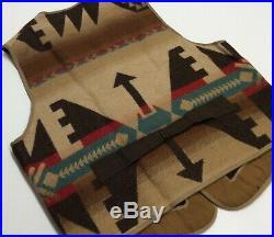 Vtg Polo Ralph Lauren Western Cowboy Southwestern Aztec Navajo Ranch Jacket Vest