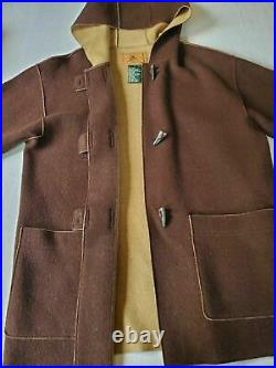 Vtg Ralph Lauren Dry Goods Polo Country Sportsman rrl Wool Hooded Coat Jacket M
