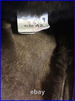 Vtg Sheepskin Shearling Coat Jacket 42 Rancher Cowboy Western Fur Marlboro Man