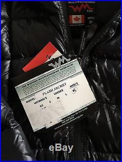 WESTERN MOUNTAINEERING Hooded Flash Jacket Men's XLarge Blk 850+ Down 100% New