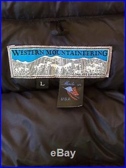 Western Mountaineering Flight Jacket-850 Down Mens (L) BLACK Very Lightly Used