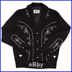 Western Rockabilly BOLERO / BILLY JACKET H Bar C / HbarC Mens Size L NWT