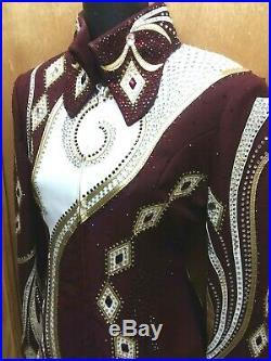 Western Showmanship Outfit Show Rail Shirt Jacket M Horse Hobby Horsemanship