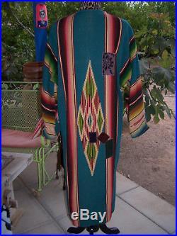 Western Vintage 40's Saltillo Serape Blanket Ranch Coat DusterLKaren Wilkinson
