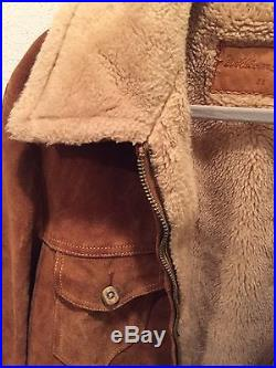 William Barry Vtg Heavy Lined Barn Coat WESTERN Suede Leather RANCHER JACKET 44R