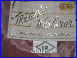 Women's Fringe Coat Jacket Lined (10/12) Vintage TREGO'S Westwear Leather