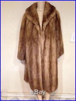 Women's Outerwear Winter Genuine real Mink Fur long Coat Jacket plus fits XL/ 1X