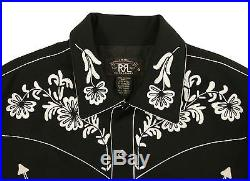 Women's Ralph Lauren RRL Black Embroidered Western Wool Jacket New $890