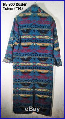 Women's Western Duster Coat Rhonda Stark Wool Blend Indian Blanket Made in USA