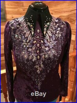 Women's western pleasure, rail, showmanship horse show shirt, jacket, coat