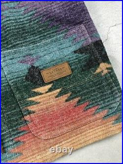 Womens Lauren RL Ralph Lauren Aztec Western Wool Jacket Sweater USA Made Medium