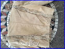Womens M Continental Leather BOAR SUEDE Tan Lamb Skin Fringe WESTERN Jacket