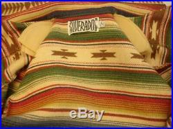 Womens M Silverado Southwestern Indian Blanket Western Coat Jacket USA Made Vtg