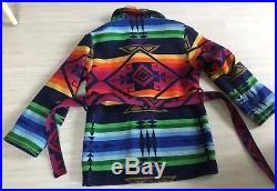 Womens PENDELTON Western Navajo Aztec Blanket Wrap Coat Jacket Bold Colors Sz M
