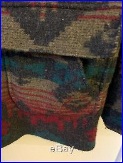 Woolrich Vintage USA Aztec Blanket Wool Western Jacket Coats Mens L 25 GUC