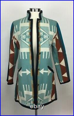 XS Native American Wool Coat by Native Jackets Santa Fe, NM Sierra Style NWOT