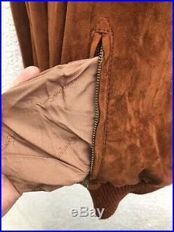 Yves Saint Laurent 70s Vintage Brown Suede Leather Western Pullover Jacket 42